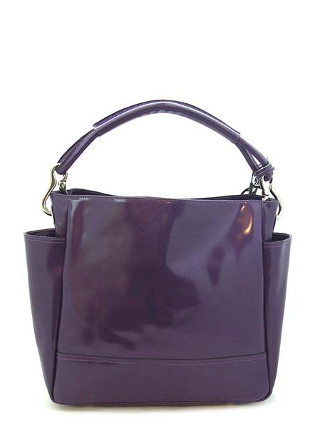 Фиолетовая сумка из натуральной кожи.