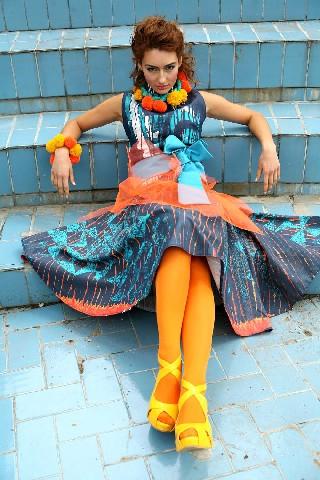 Джинсовый сарафан, фото