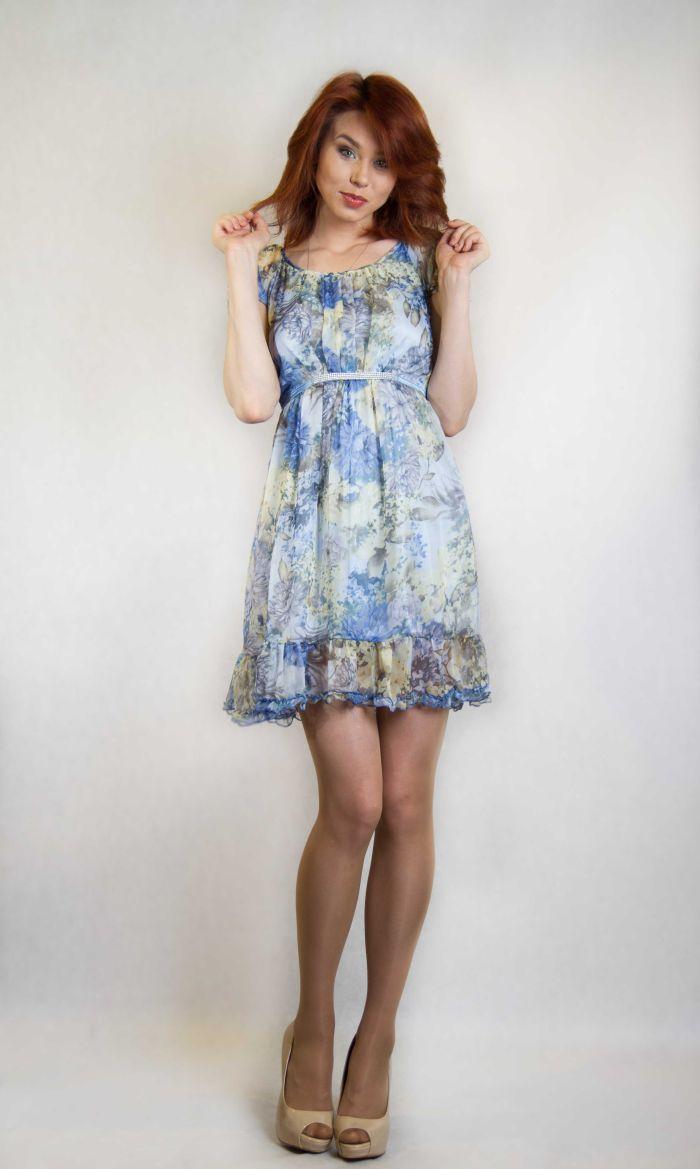 Шифоновое платье в пол с