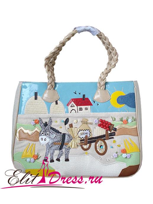 """Летняя сумка  """"Маленький ослик """""""