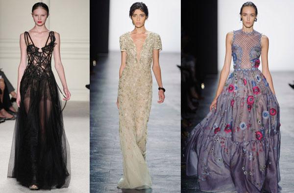 Платья фото с модных показов