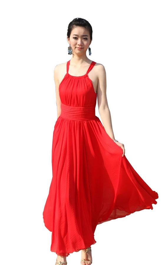 Длинное шифоновое платье в наличии