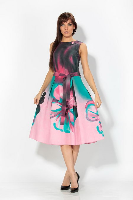 Платья больших размеров 48, 50, 52, 54.  Красивые платья из Италии Шоу.