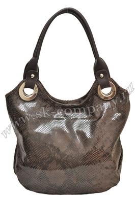 ...внутри: 2 отделения; 2 кармана на молнии;- высота ручки 25 см. Итальянские сумки - Сумка из натуральной кожи.