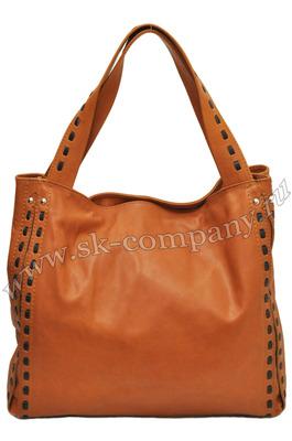 Яркая рыжая сумка Giglio Fiorentino 0100-03 из натуральной кожи.  Дизайнерские.