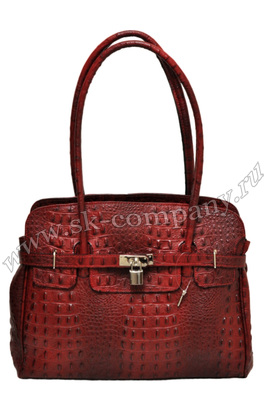 Модная сумка Giglio Fiorentino 0109-19 из кожи с мехом пони рыжего цвета.