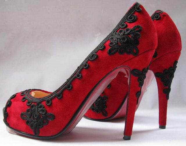 Красные Замшевые Туфли Фото
