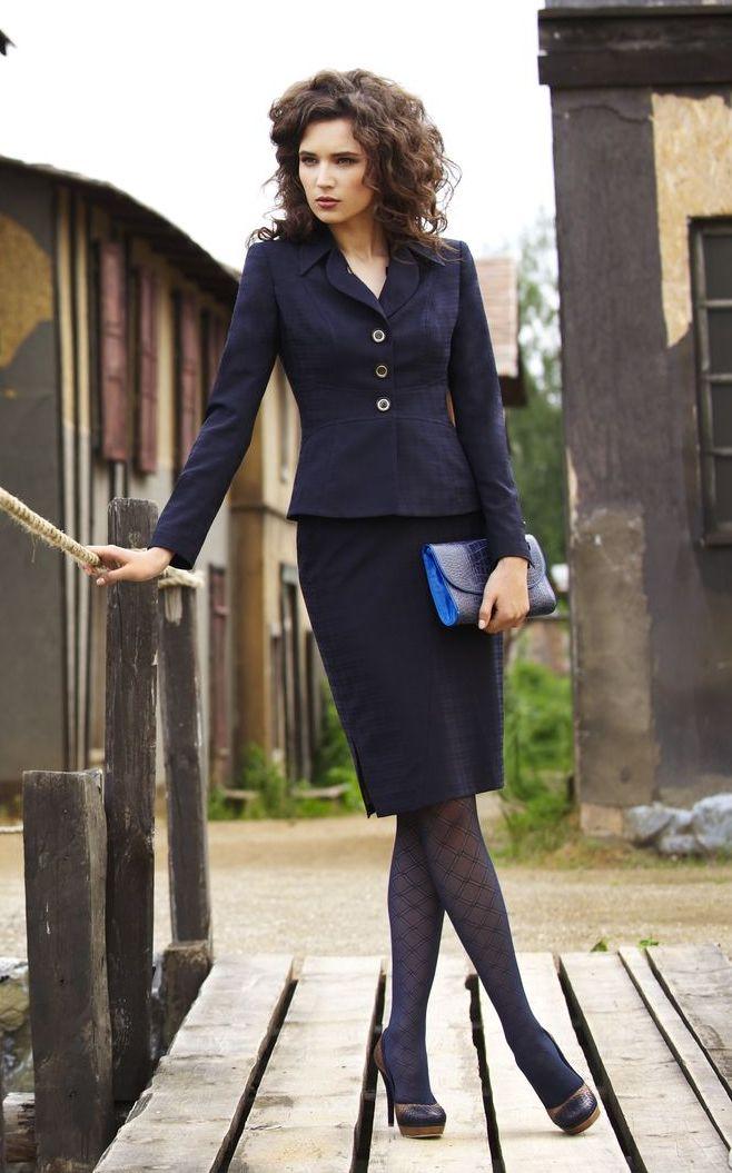 Строгий женский костюм с юбкой с доставкой