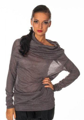 Пуловер с воротником каскад с доставкой
