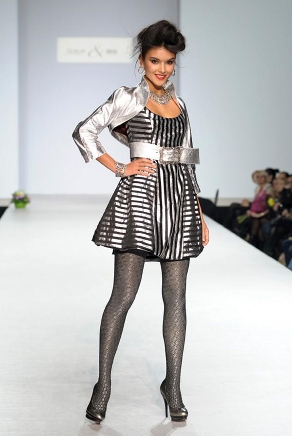 Эксклюзивное платье в полоску из шелковой парчи от Cartas CAR-wmf10_24